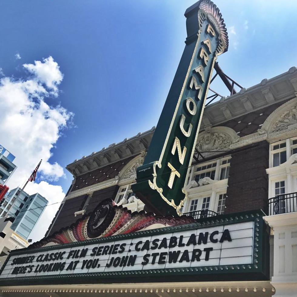 Paramount Theatre marquee movie series
