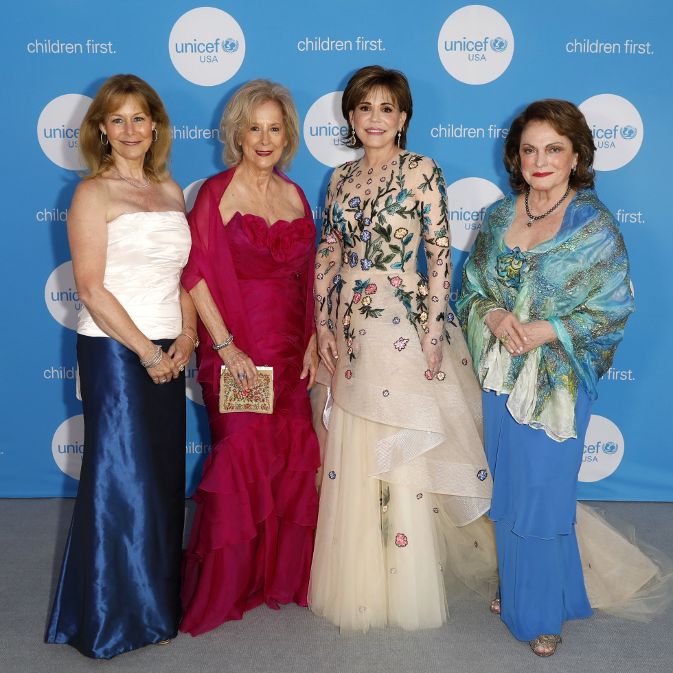 UNICEF Gala Houston 2019 Cheryl Byington, Mary Ann McKeithan, Hallie Vanderhider, and Beth Wolff