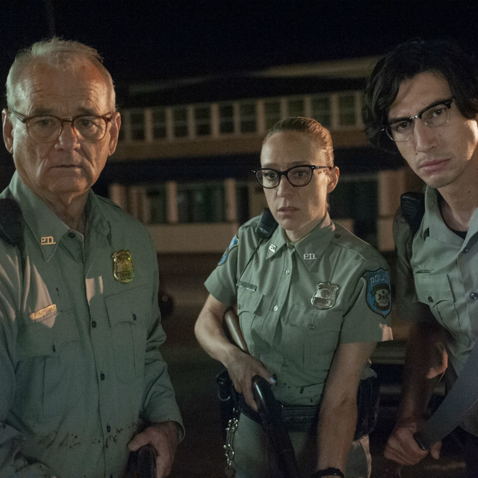 Bill Murray, Chloë Sevigny, and Adam Driver in The Dead Don't Die