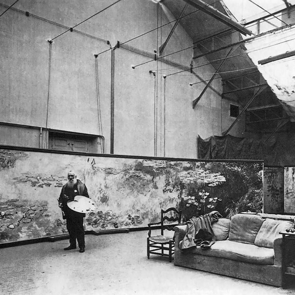 Monet studio Giverny