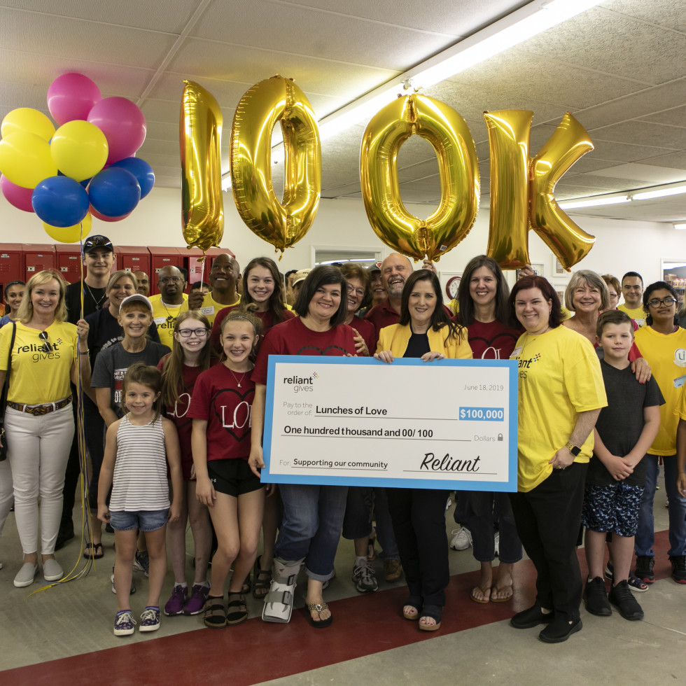 Reliant Gives 2019 Lunches of Love