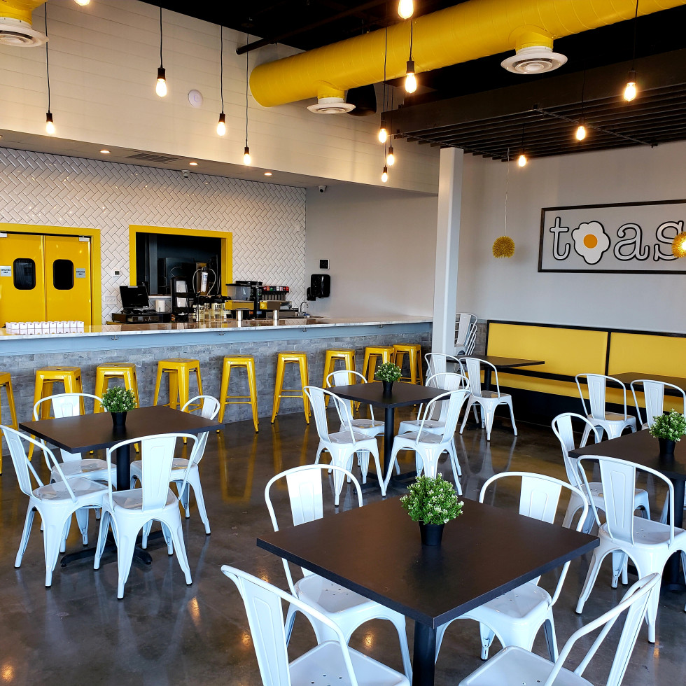 Toast restaurant Sugar Land interior