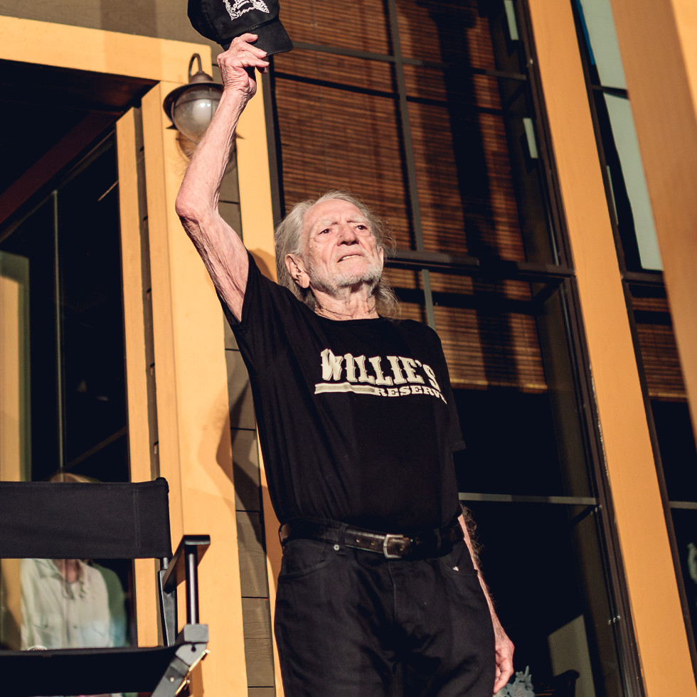 Luck Cinema Willie Nelson Waving