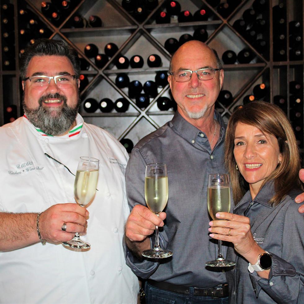 Bacaro Kitchen & Wine Bar Maria and Bill Loveday Dane George