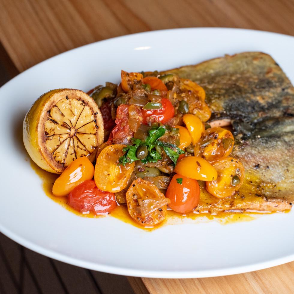 Indianola rainbow trout tomato salsa Veracruz