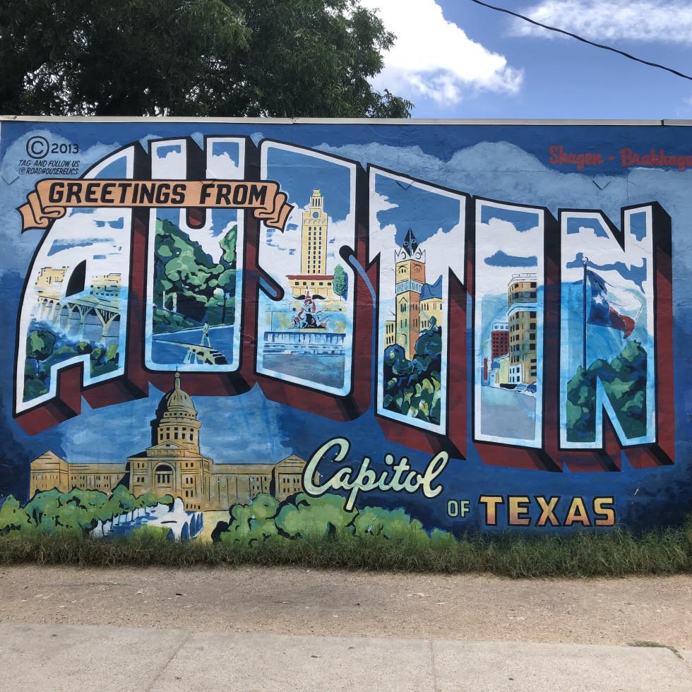 Greetings from Austin mural vandalism