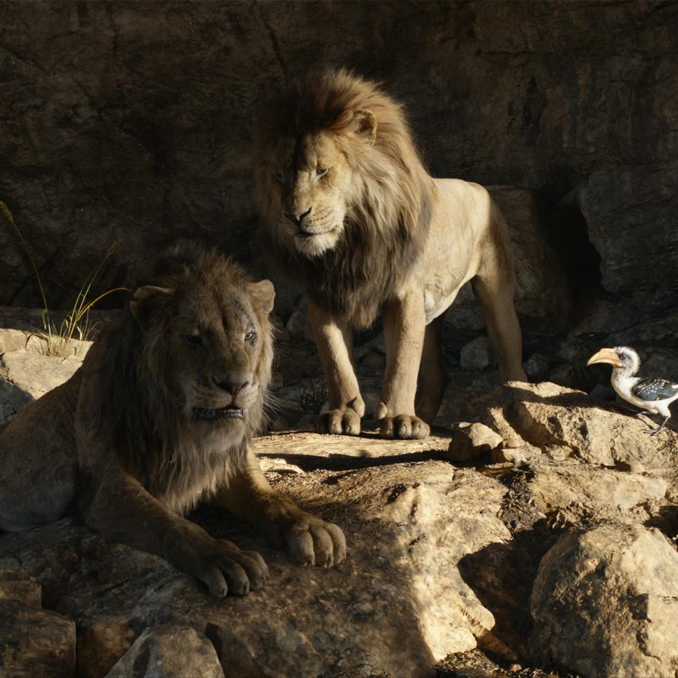Scar, Mufasa, and Zazu in The Lion King