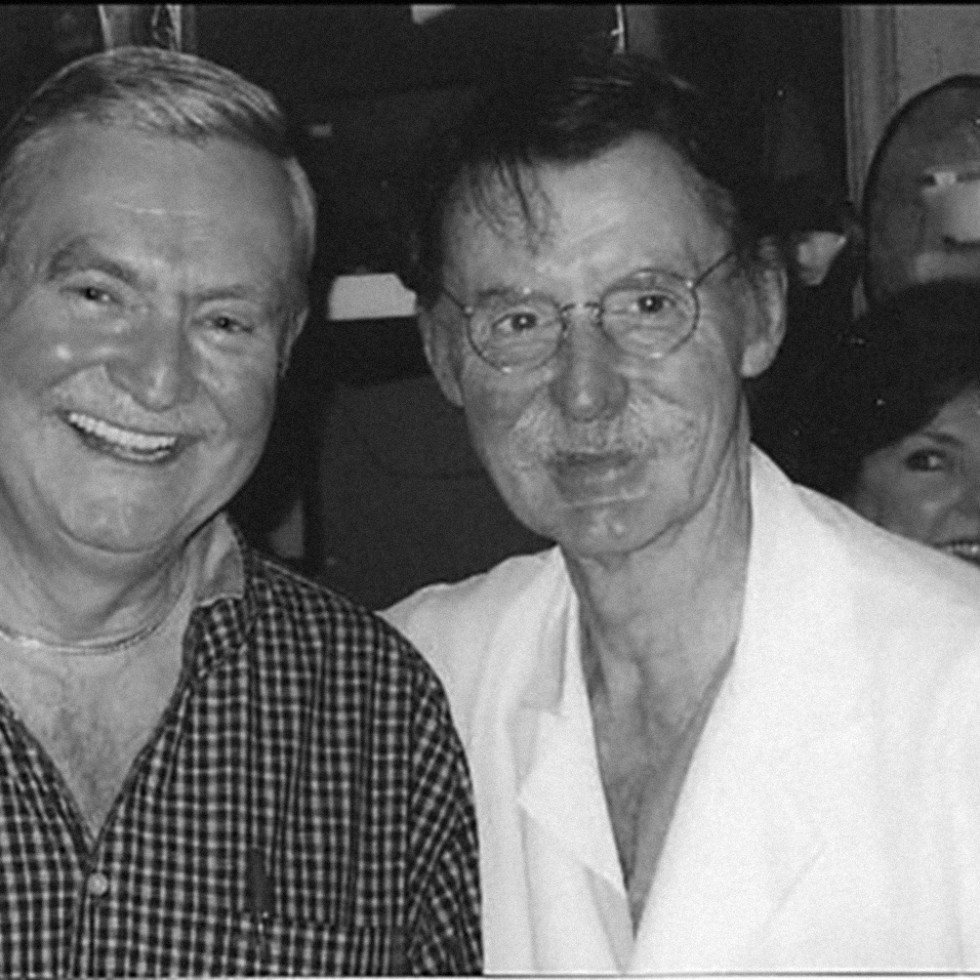 "Dave Ward with Dr. James ""Red"" Duke"