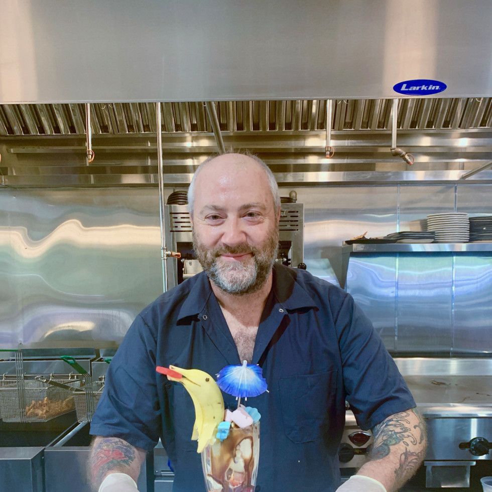 Bravery Chef Hall Atlas Diner Richard Knight sundae