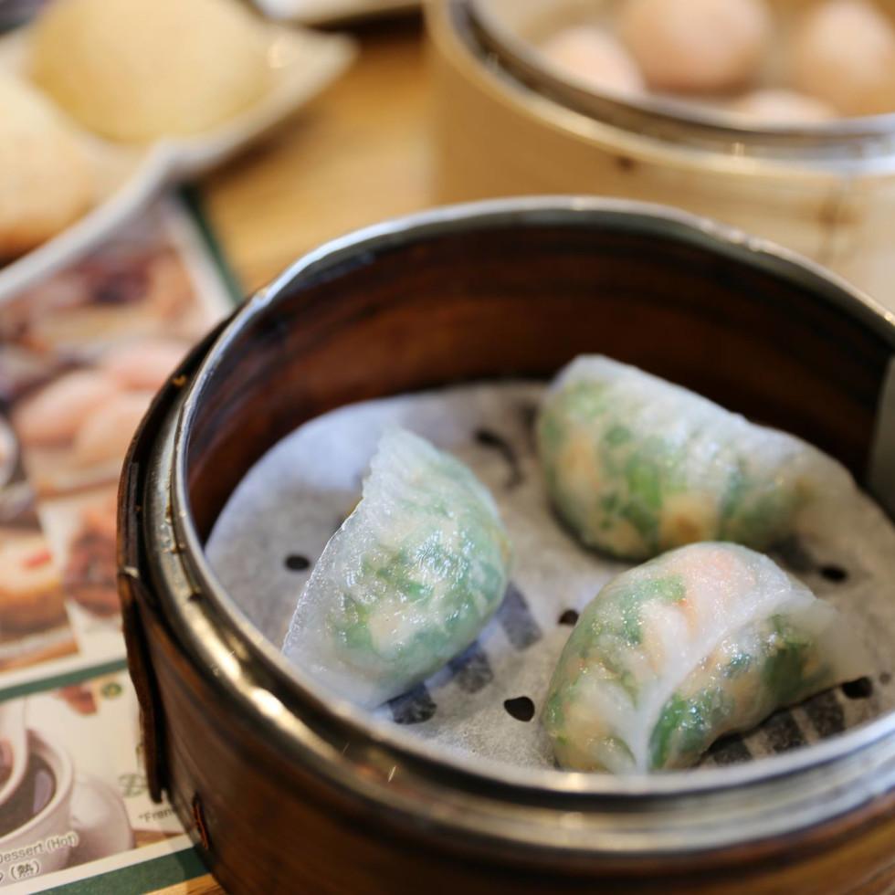 Tim Ho Wan dim sum shrimp and chive dumplings