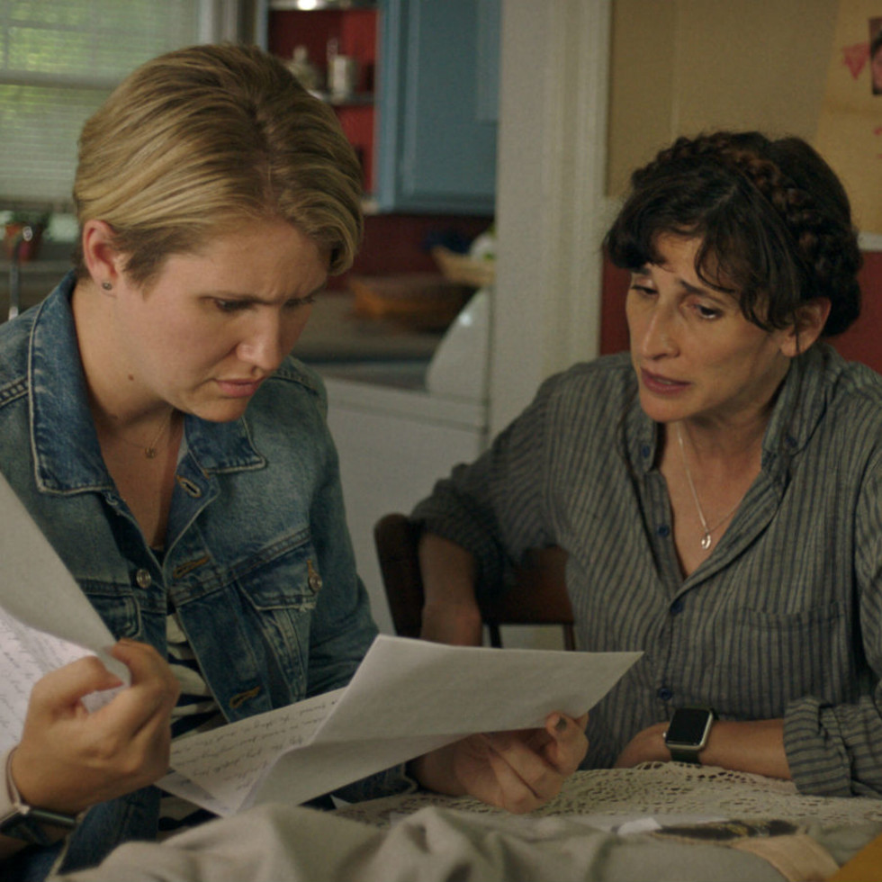 Jillian Bell and Michaela Watkins in Sword of Trust