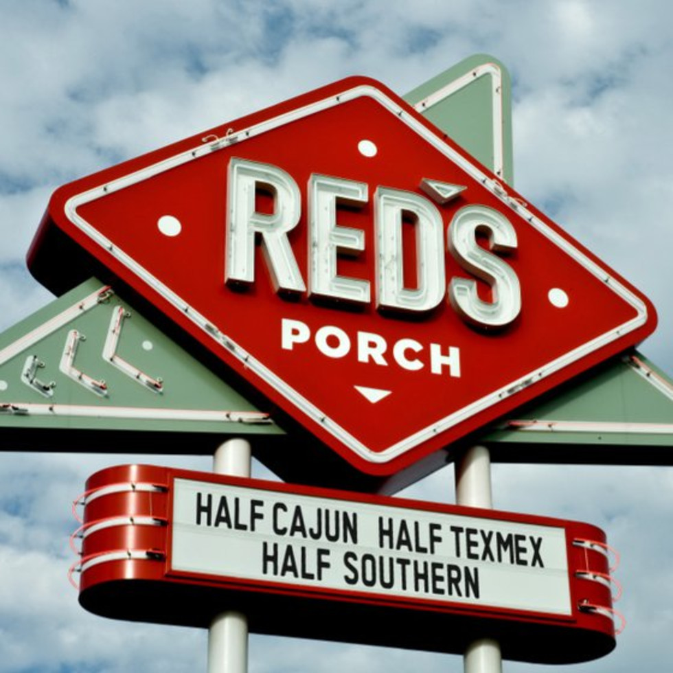 Red's Porch sign