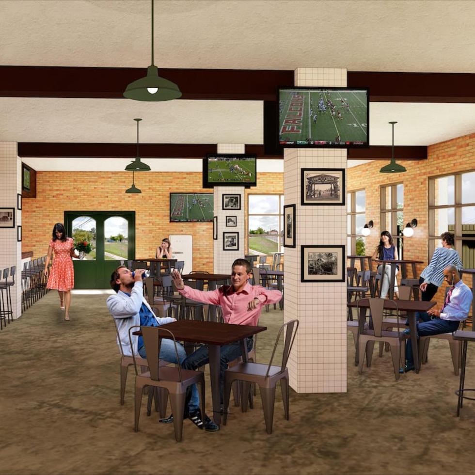 Memorial Trail Ice House rendering interior