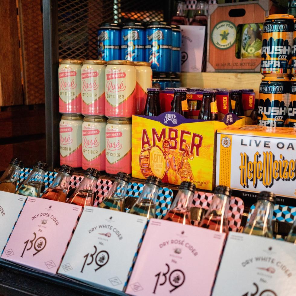 Revival Market beer selection