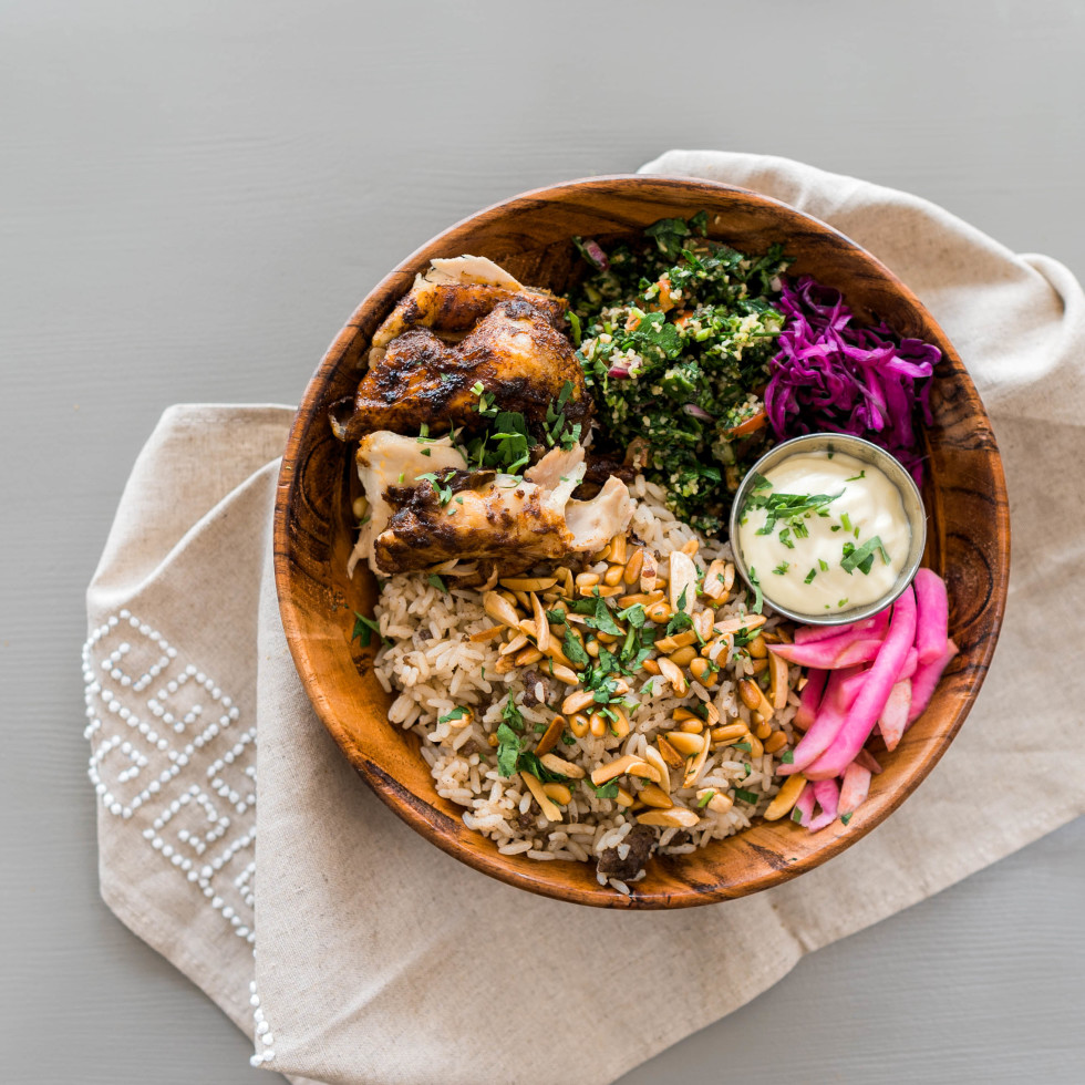 Craft Pita chicken bowl