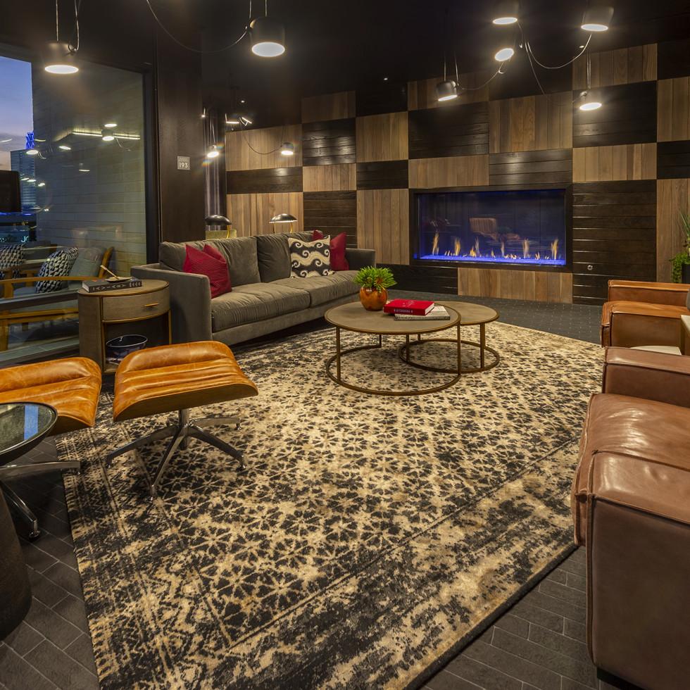 The McAdams Memorial City private lounge
