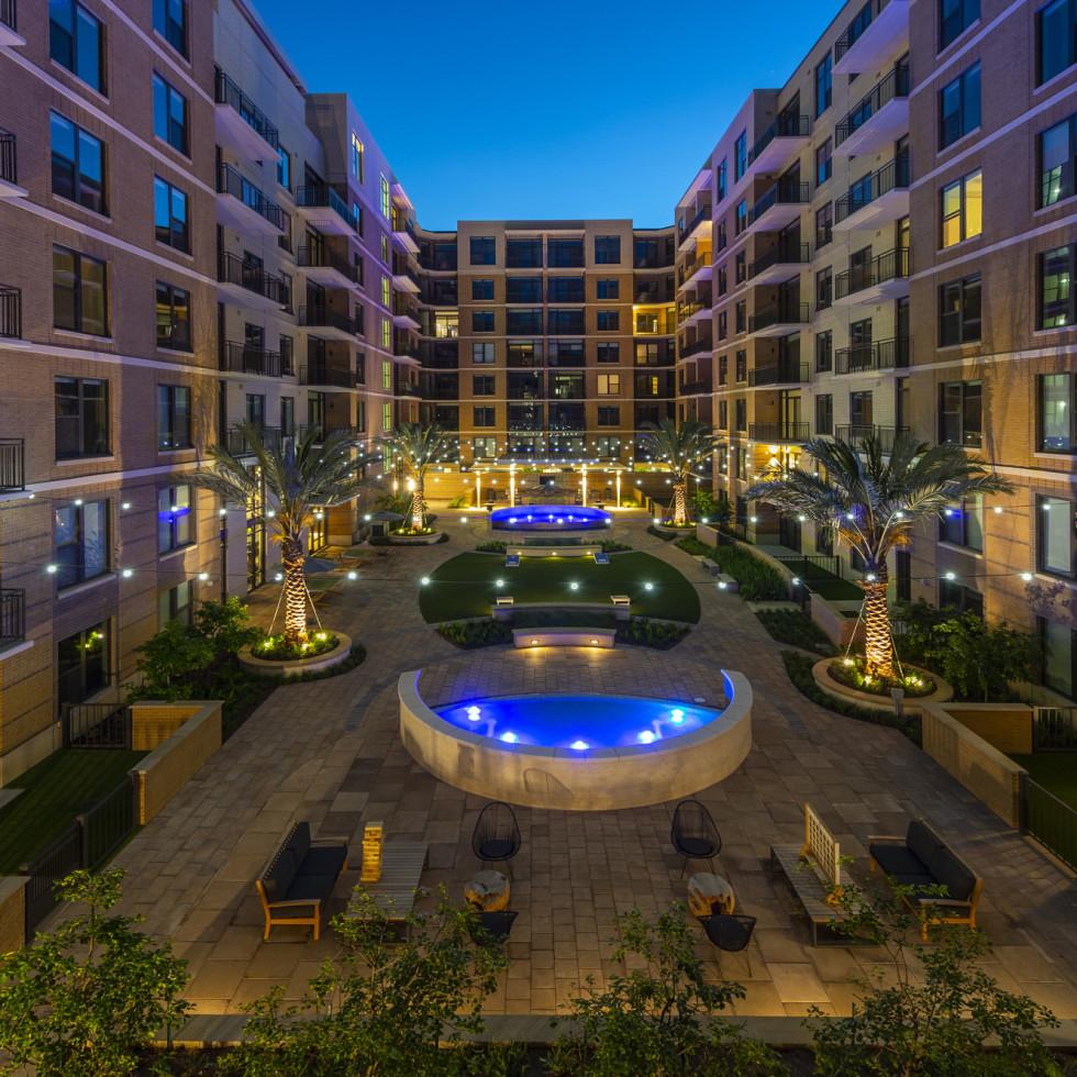 The McAdams Memorial City courtyard