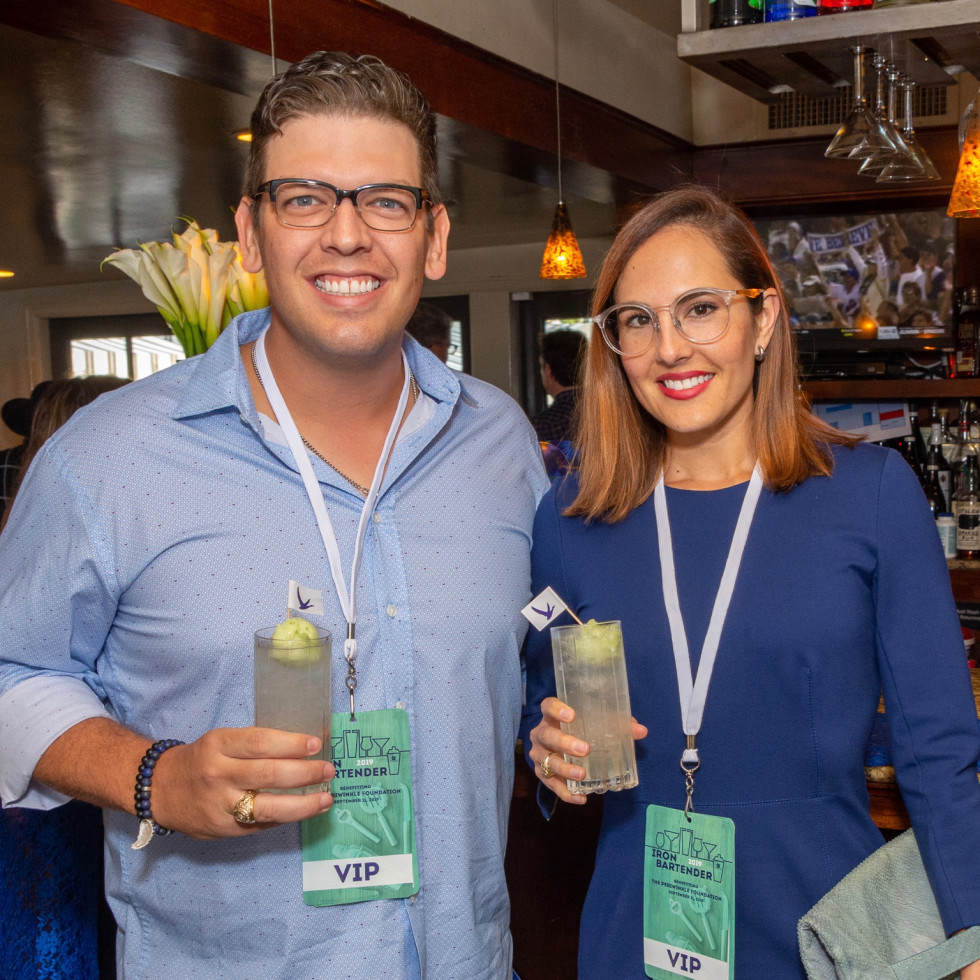 Iron Bartender Justin and Natalie Goodman