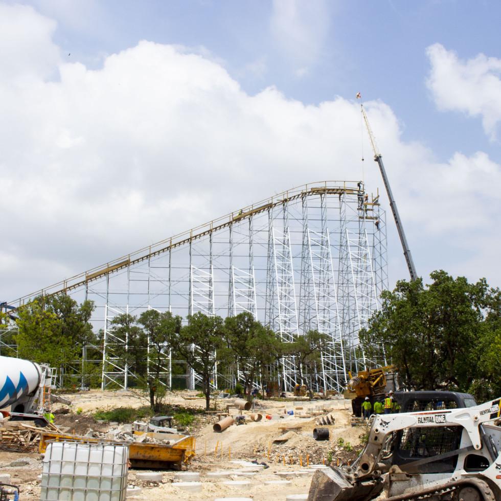 Texas Stingray under construction at SeaWorld San Antonio.