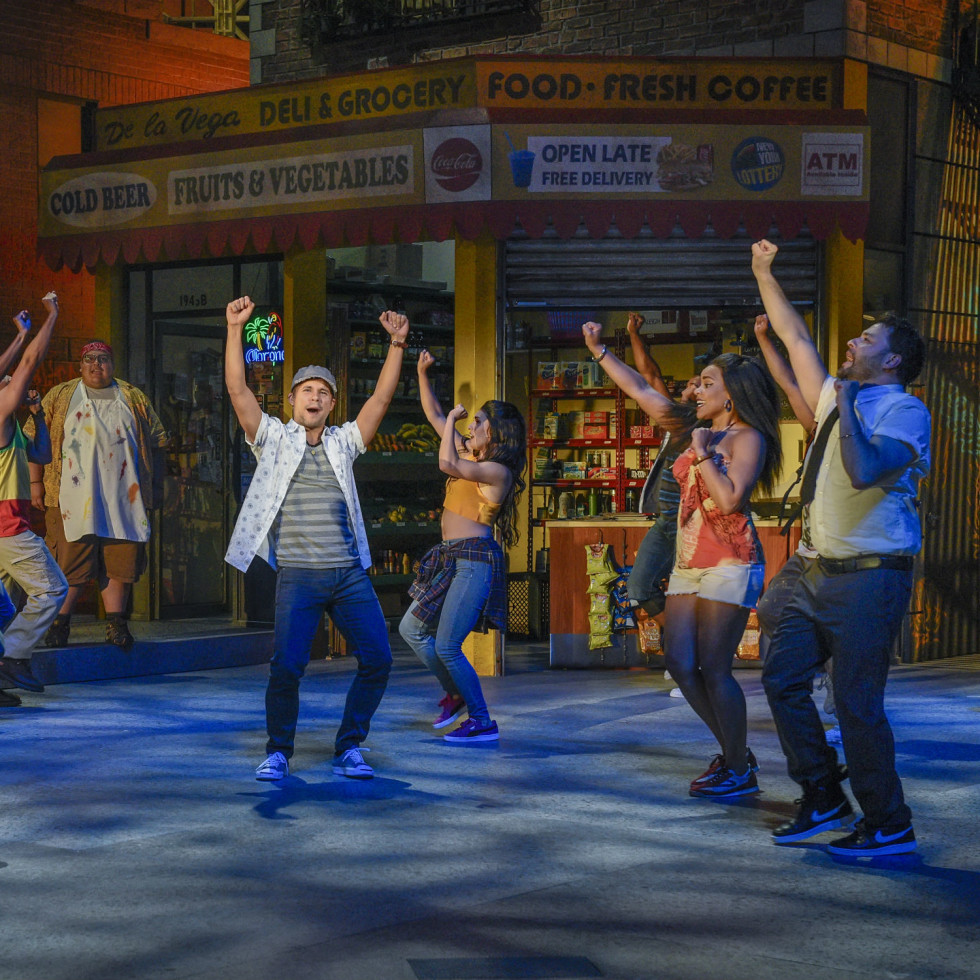 Xavier Cano and cast of Dallas Theater Center's In the Heights