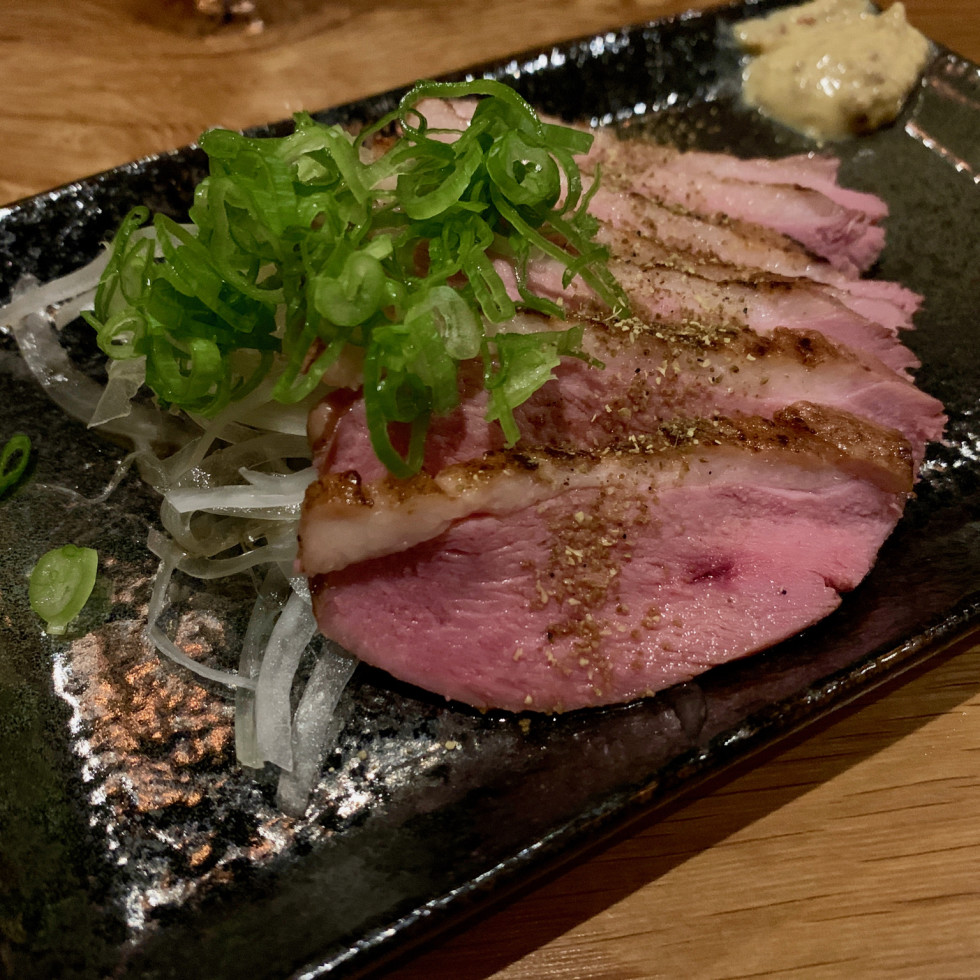 Toukei Izakaya cold smoked duck