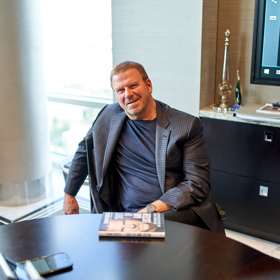Tilman Fertitta Shut Up and Listen book desk