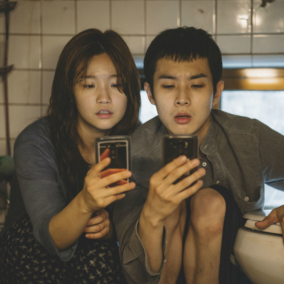 So-dam Park and Woo-sik Choi in Parasite