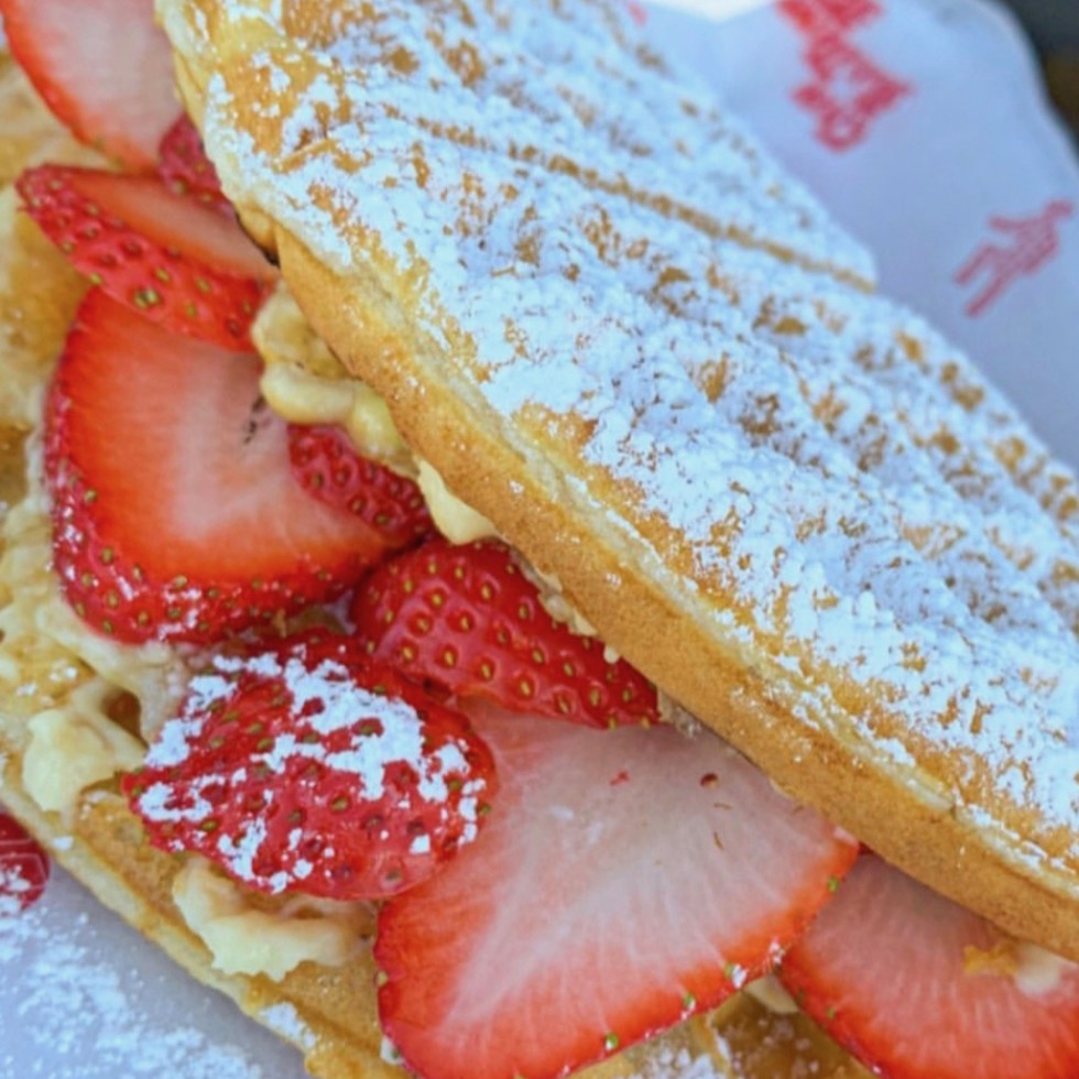 The Waffle Bus Heights strawberry waffle