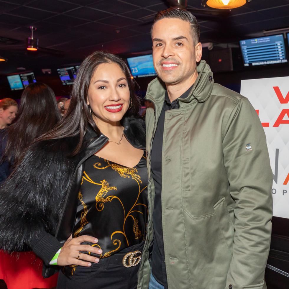 Clint Capela bowling bash 2019 Nancy Almodovar, Jose Almodovar