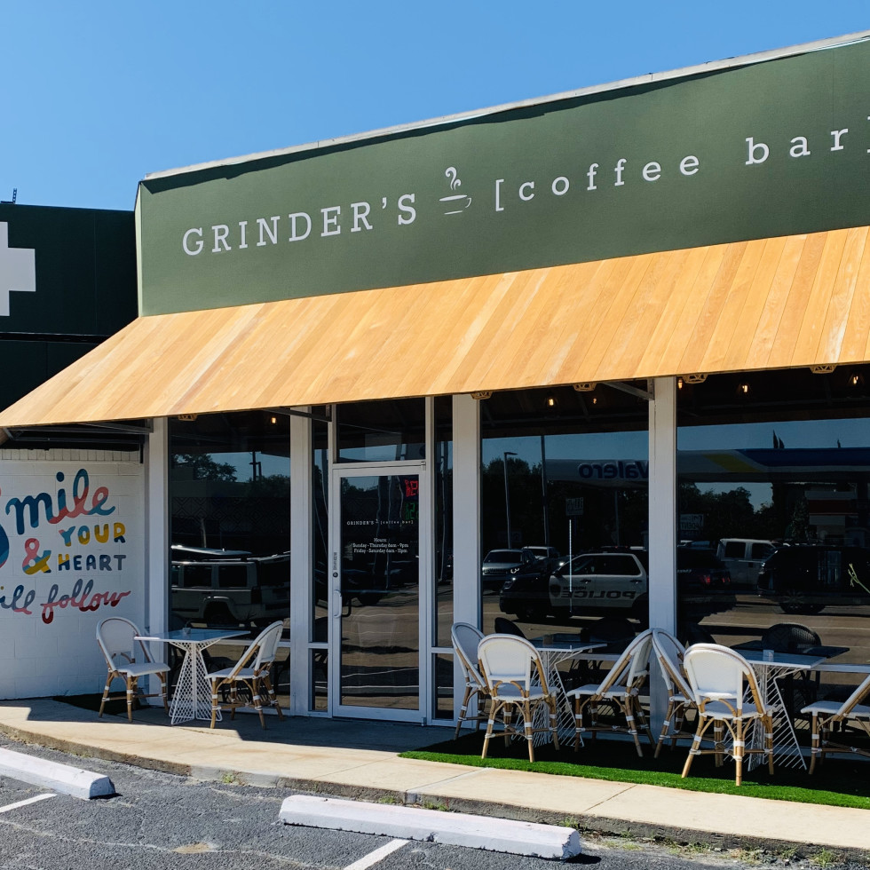 Grinder's Coffee Bar exterior