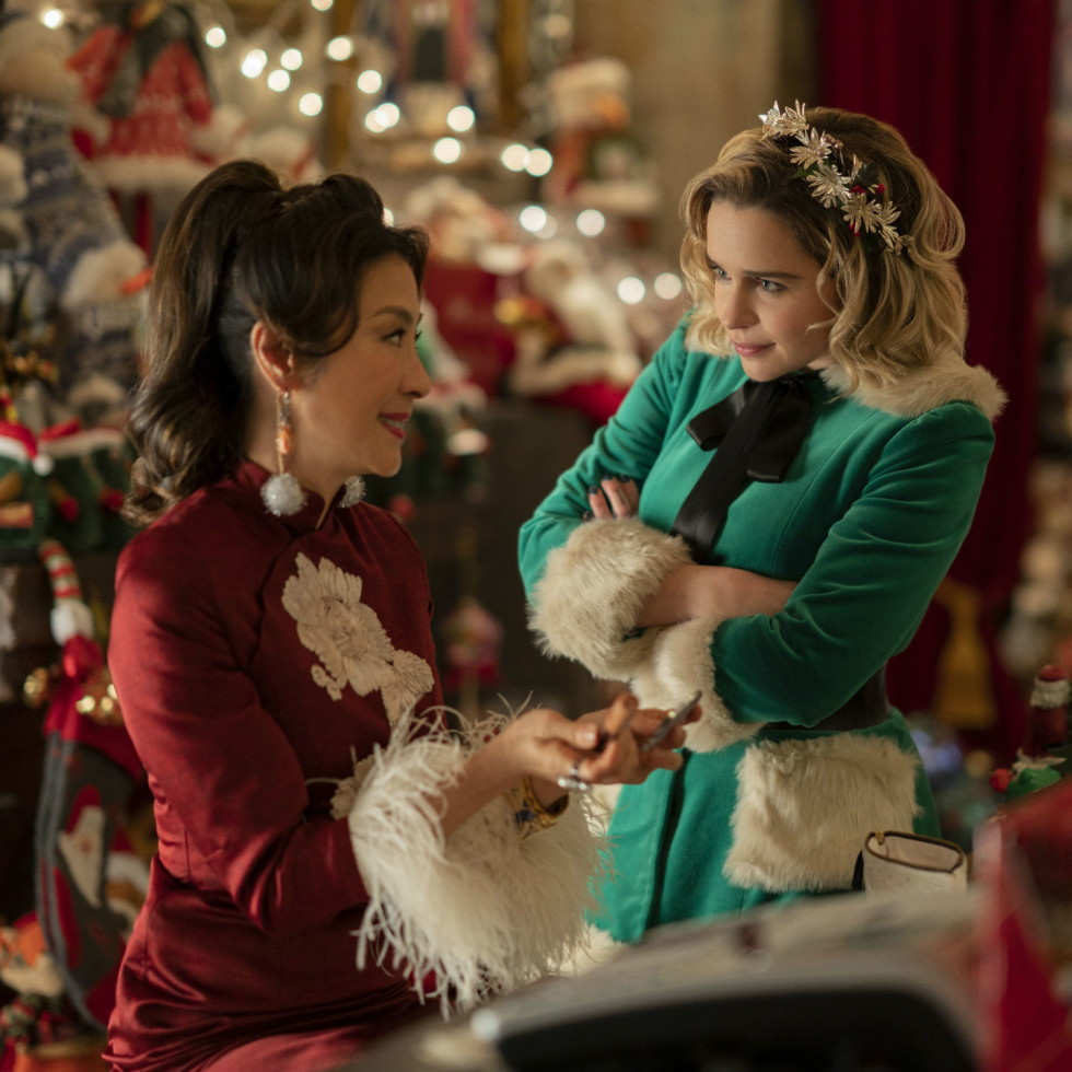 Michelle Yeoh and Emilia Clarke in Last Christmas