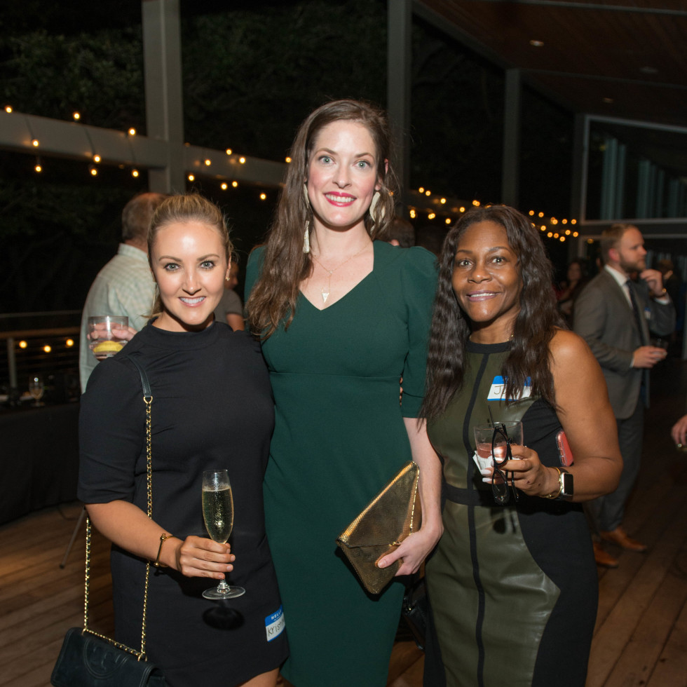 Automotive Map launch party 2019 Kristina Anderson, Marissa Lucas, and Judith Goode