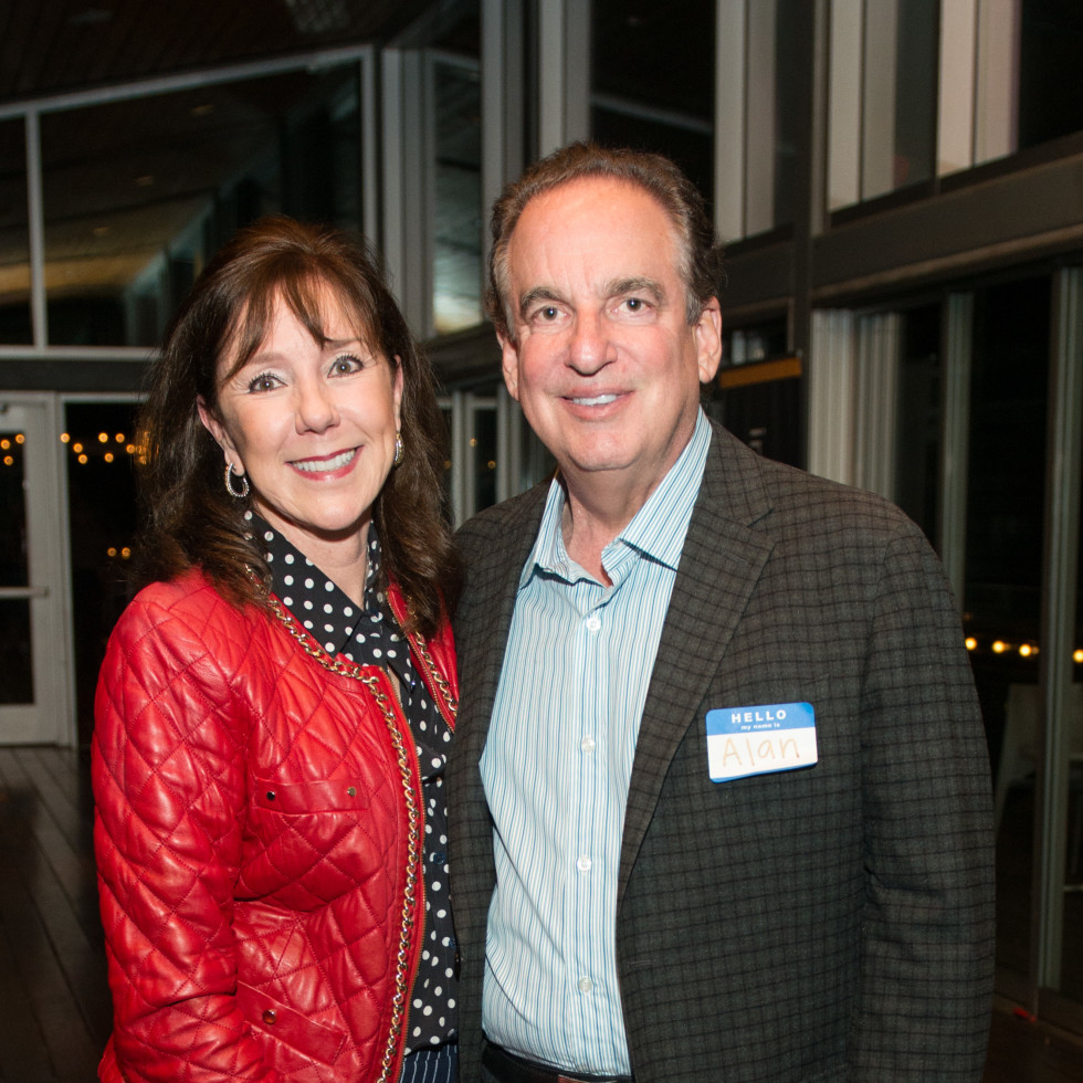 Automotive Map launch party 2019 Elizabeth and Alan Stein