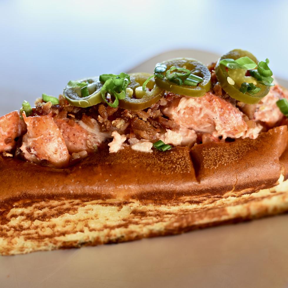 Bernie's Burger Bus Texas-style lobster roll