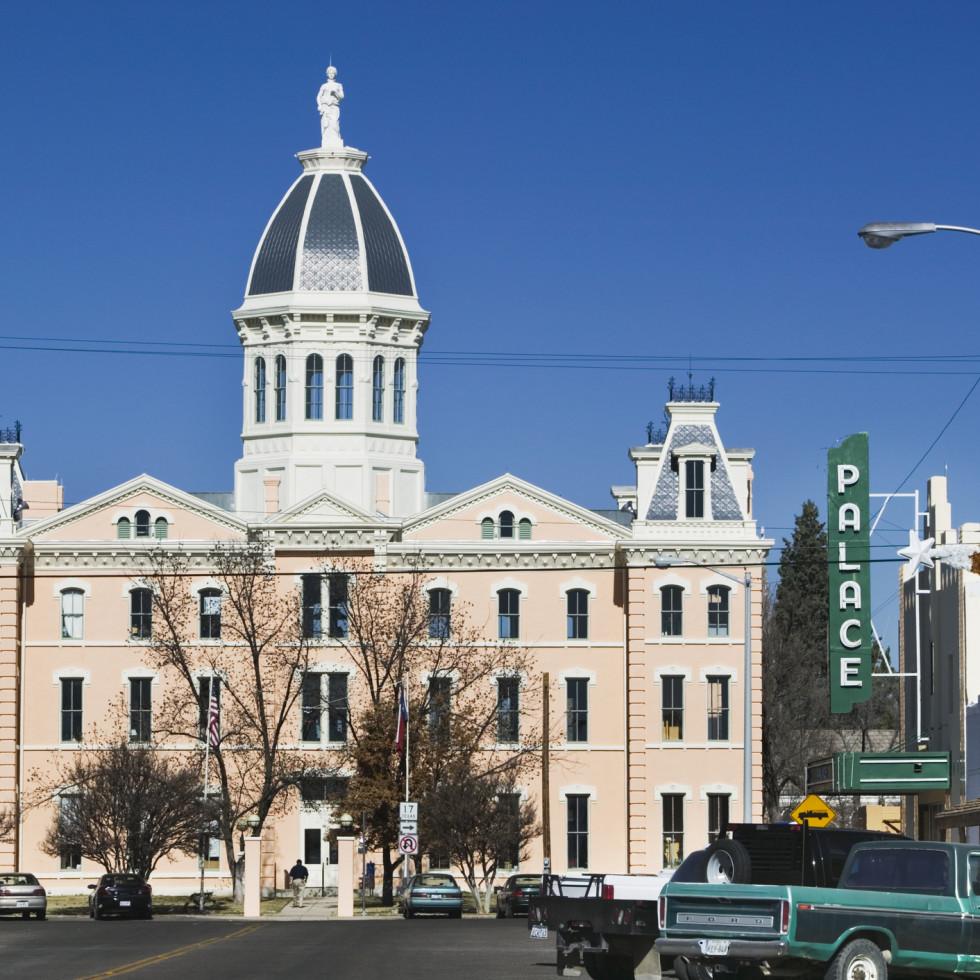 Downtown Marfa Presidio County Courthouse