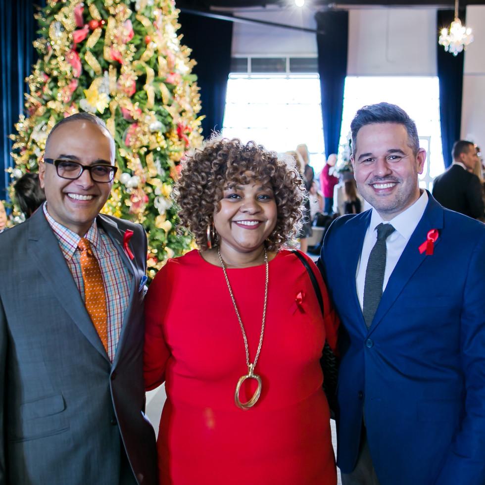 World AIDS Day Luncheon 2019 Angel Rua, Tomecia Weaver, Alex Gallardo