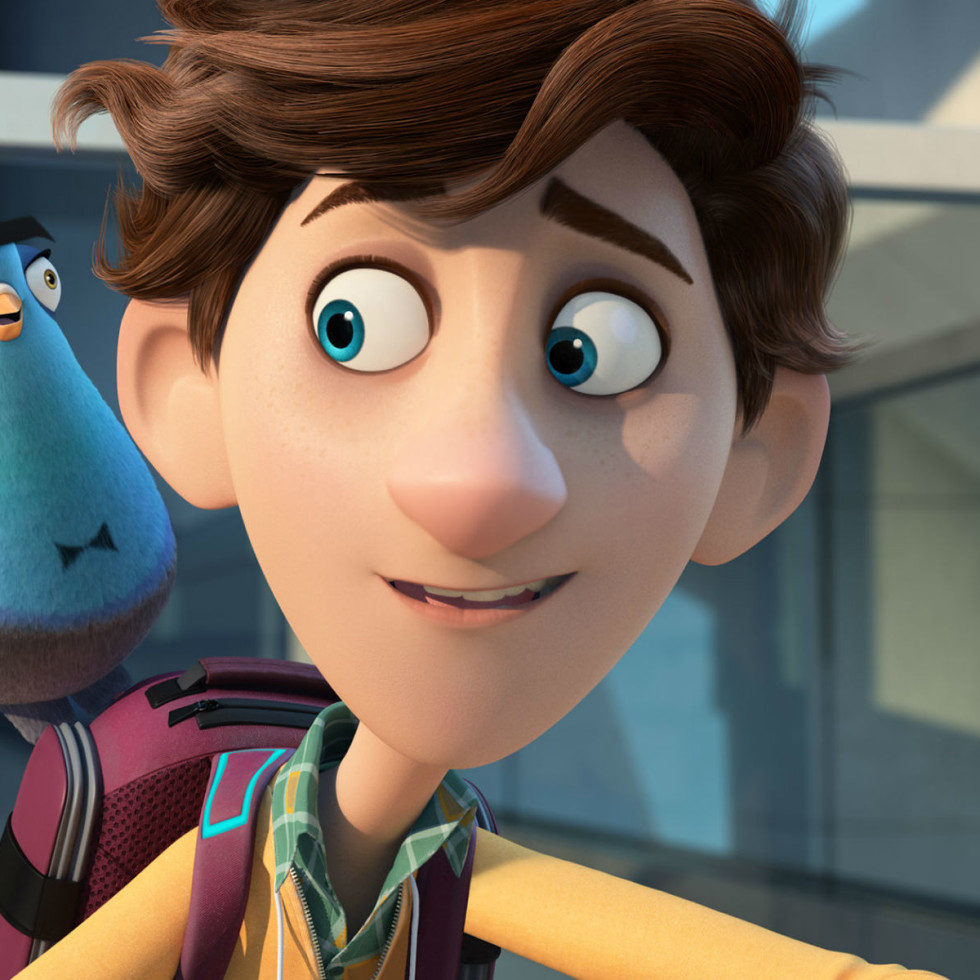 Sterling as a pigeon and Walter in Spies in Disguise