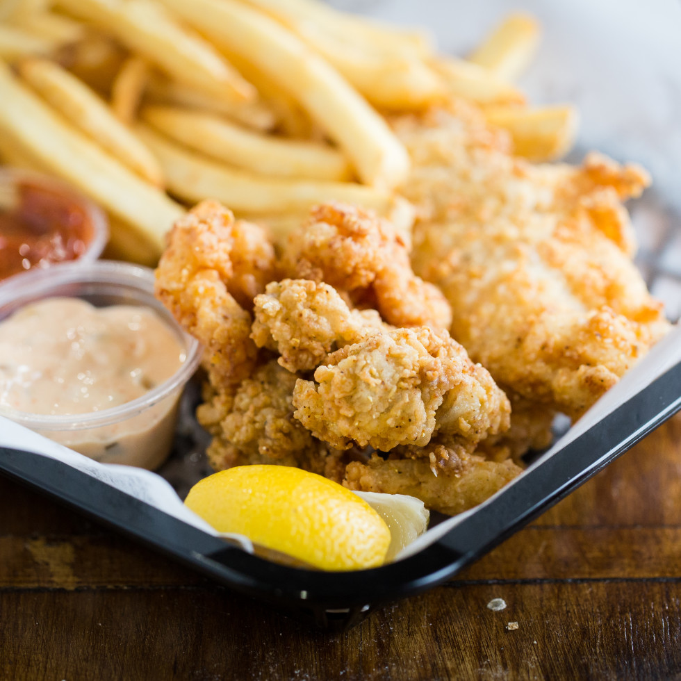 Antone's fried seafood platter