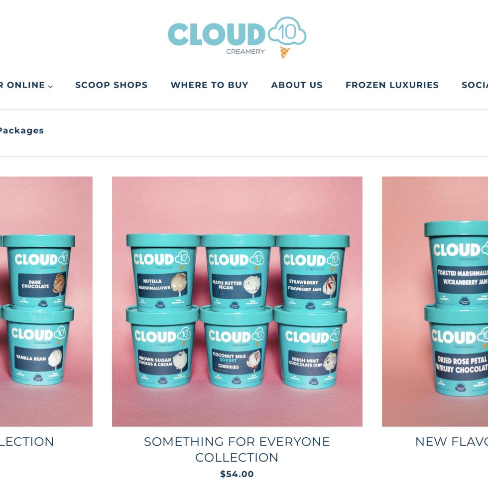 Cloud 10 Creamery website