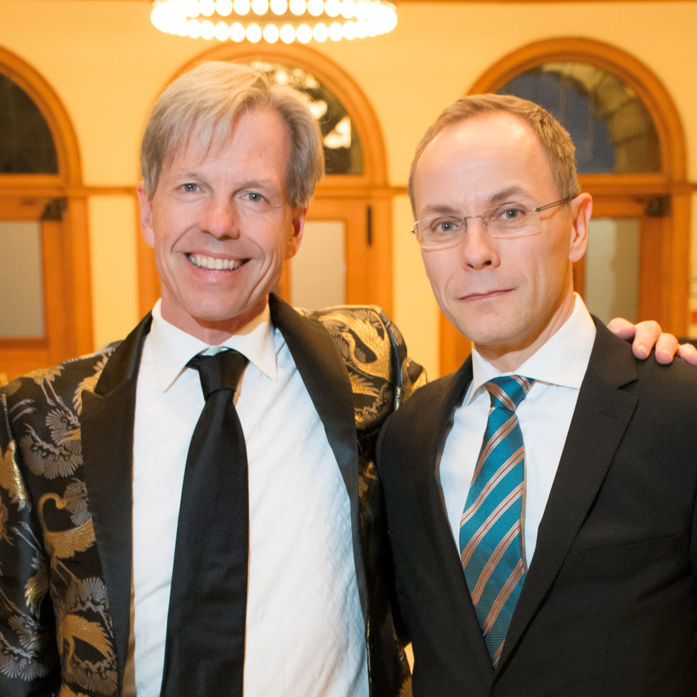 FWO's Artistic Director Joe Illick and FWO's General Director Tuomas Hiltunen