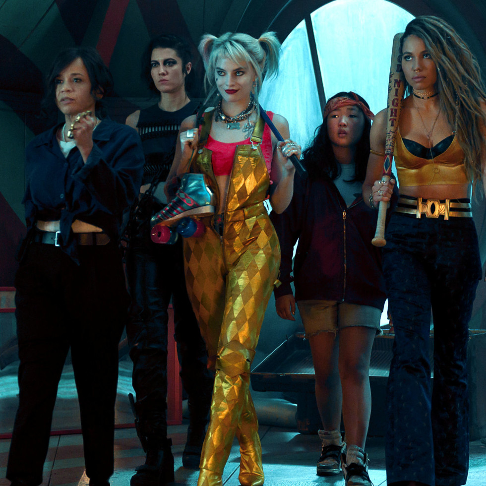Rosie Perez, Mary Elizabeth Winstead, Margot Robbie, Ella Jay Basco, and Jurnee Smollett-Bell in Birds of Prey