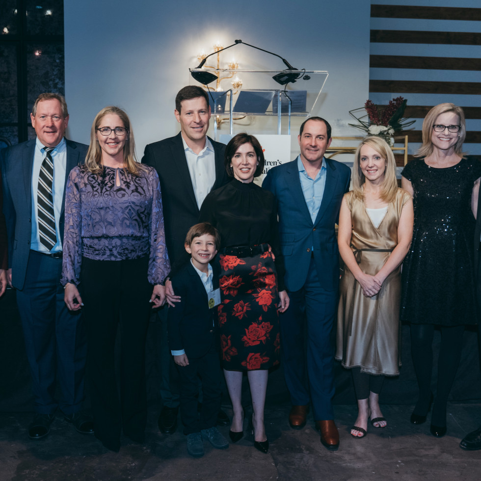 Texas Childrens Cooking up a Cure Carla Davis Jack and Amy Behan; David, Elliot and Rebecca Luks; Nick and Ellisa Gole; Holly and Jose Bayardo