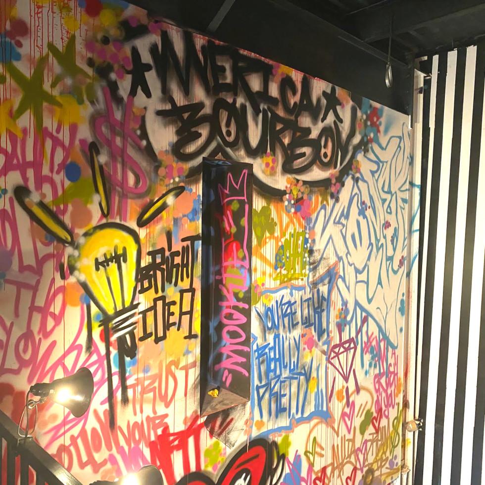 Dahlia Houston graffiti wall
