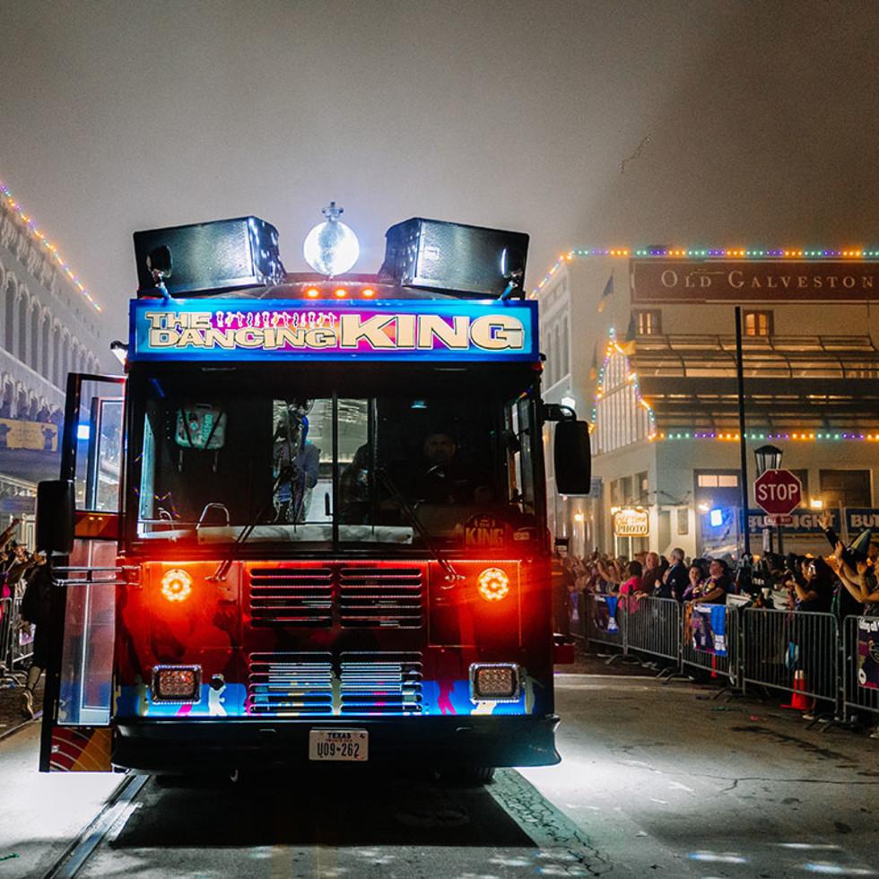 Mardi Gras Galveston Bumpin Bus Parade