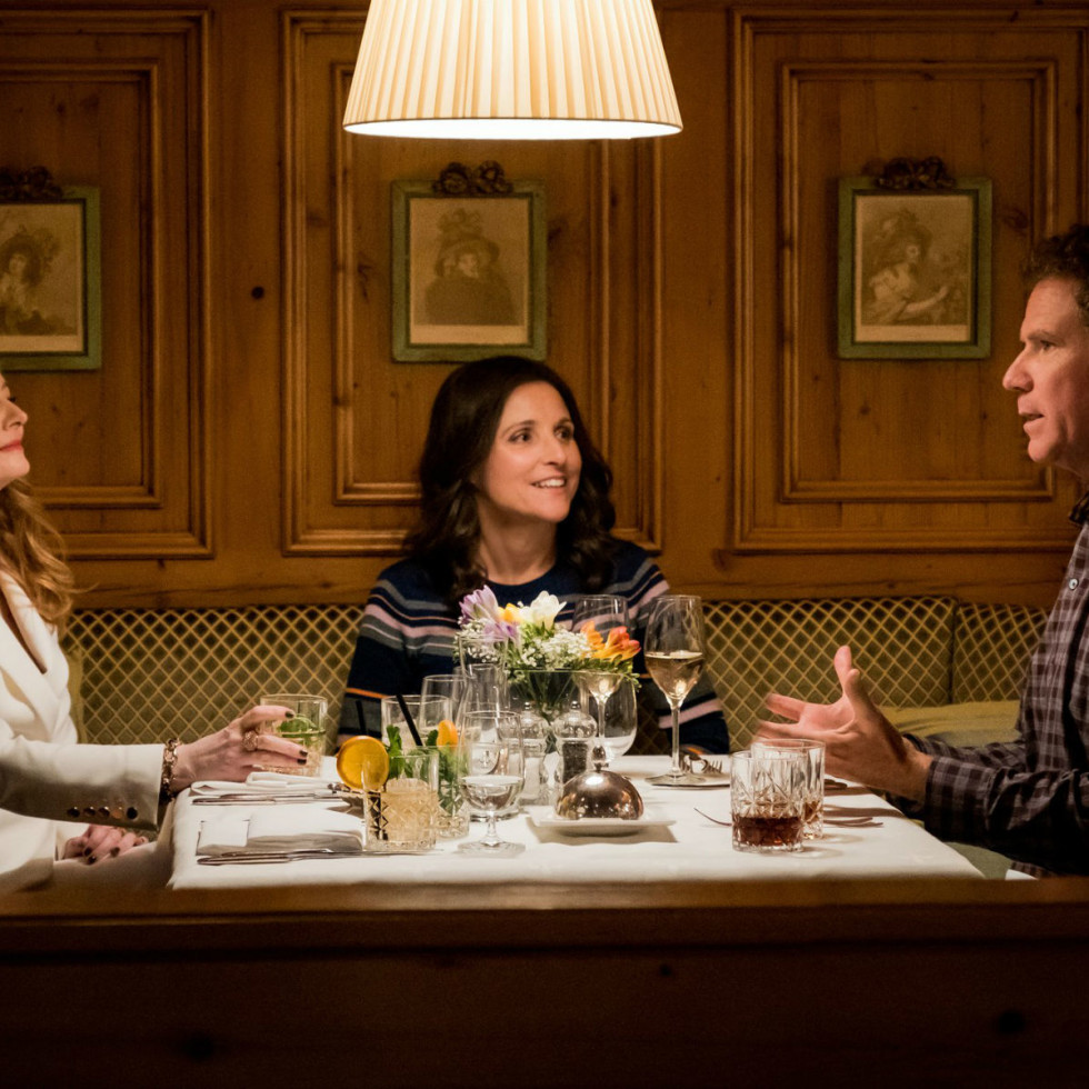 Alex MacQueen, Miranda Otto, Julia Louis-Dreyfus, and Will Ferrell in Downhill