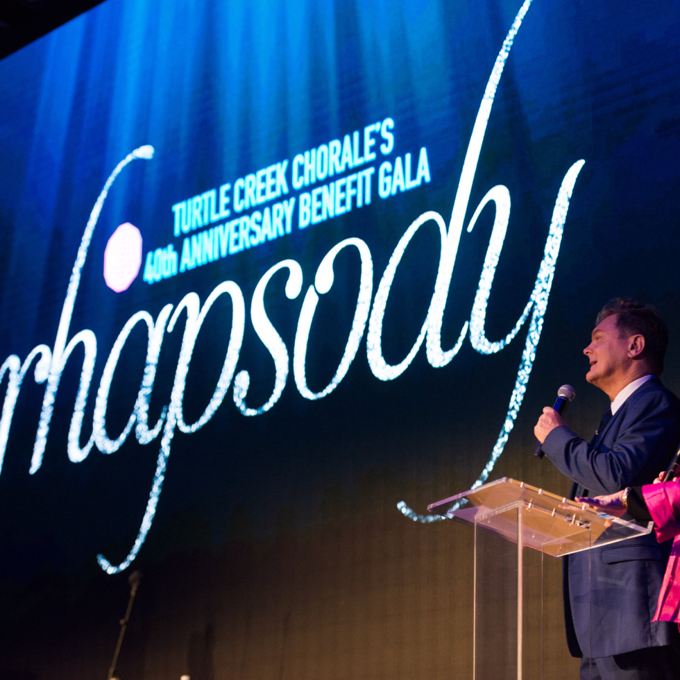 Gala co-chairs Robert Emery and Kay Wilkinson welcome more than 500 guests to the inaugural Rhapsody.