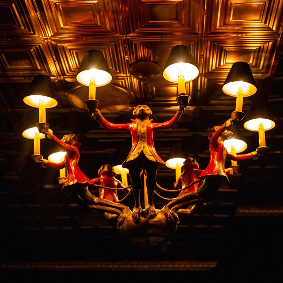 Turner's monkey chandelier