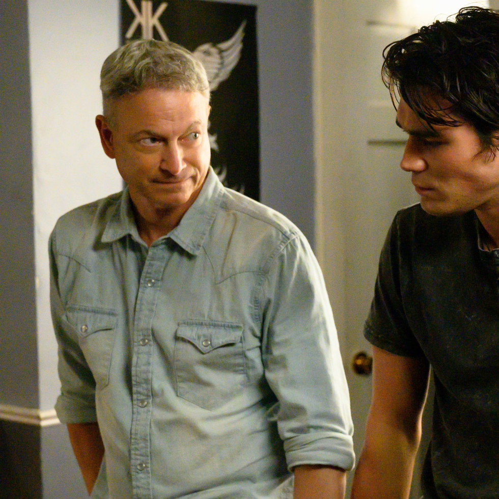 Gary Sinise and K.J. Apa in I Still Believe