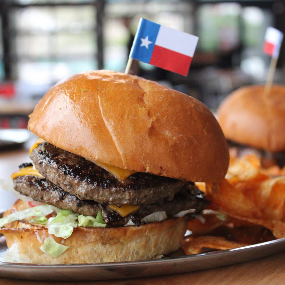Woodshed Smokehouse Tim Love cheeseburger