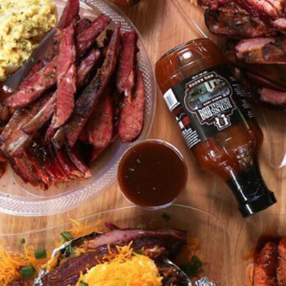 Burns Original BBQ barbecue spread